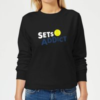 Set Addicts Women's Sweatshirt - Black - S - Black from The Tennis Collection