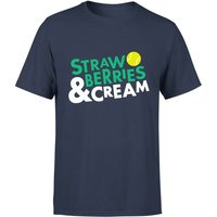 Strawberries and Cream T-Shirt - Navy - L - Navy from The Tennis Collection