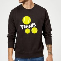 Tennis Balls Sweatshirt - Black - S - Black from The Tennis Collection