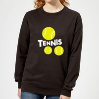 Tennis Balls Women's Sweatshirt - Black - XL - Black from The Tennis Collection