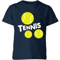 Tennis Balls Kids' T-Shirt - Navy - 9-10 Years - Navy from The Tennis Collection