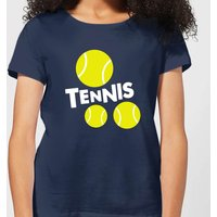 Tennis Balls Women's T-Shirt - Navy - L - Navy from The Tennis Collection