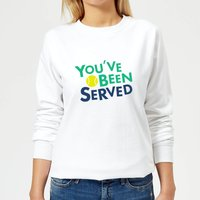 You've Been Served Women's Sweatshirt - White - S - White from The Tennis Collection