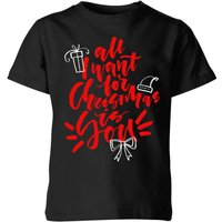 All i want for Christmas Kids' T-Shirt - Black - 9-10 Years - Black from The Christmas Collection