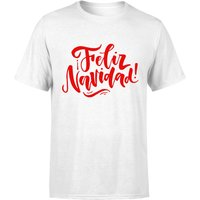 Feliz Navidad T-Shirt - White - XXL - White from The Christmas Collection