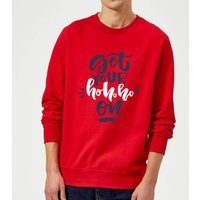 Get your Ho Ho Ho On Sweatshirt - Red - M - Red from The Christmas Collection