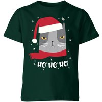 Ho Ho Ho Kids' T-Shirt - Forest Green - 11-12 Years - Forest Green from The Christmas Collection