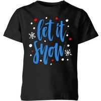 Let it Snow Kids' T-Shirt - Black - 9-10 Years - Black from The Christmas Collection