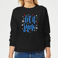 Let it Snow Women's Sweatshirt - Black - M - Black from The Christmas Collection