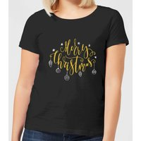 Merry Christmas Women's T-Shirt - Black - XL - Black from The Christmas Collection