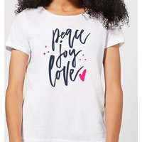 Peace Joy Love Women's T-Shirt - White - L - White from The Christmas Collection