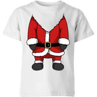 Santa Kids' T-Shirt - White - 11-12 Years - White from The Christmas Collection