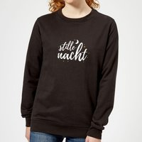 Stille Nacht Women's Sweatshirt - Black - XXL - Black from The Christmas Collection