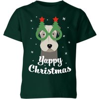 Yappy Christmas Kids' T-Shirt - Forest Green - 9-10 Years - Forest Green from The Christmas Collection