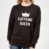 Caffeine Queen Women's Sweatshirt - Black - L - Black from The Coffee Collection