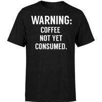 Coffee Not Yet Consumed T-Shirt - Black - S - Black from The Coffee Collection