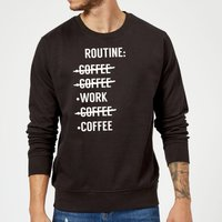 Coffee Routine Sweatshirt - Black - S - Black from The Coffee Collection