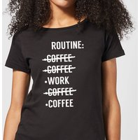 Coffee Routine Women's T-Shirt - Black - XXL - Black from The Coffee Collection