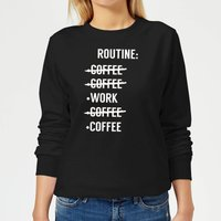 Coffee Routine Women's Sweatshirt - Black - XS - Black from The Coffee Collection