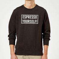 Espresso Yourself Sweatshirt - Black - 5XL - Black from The Coffee Collection