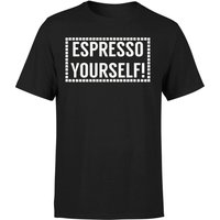Espresso Yourself T-Shirt - Black - M - Black from The Coffee Collection
