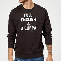Full English and a Cuppa Sweatshirt - Black - L - Black from The Coffee Collection
