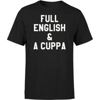 Full English and a Cuppa T-Shirt - Black - XXL - Black from The Coffee Collection