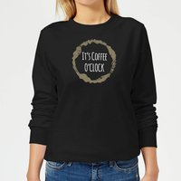 It's Coffee O'Clock Women's Sweatshirt - Black - 5XL - Black from The Coffee Collection