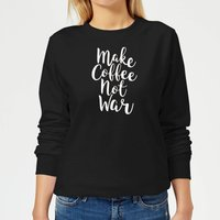 Make Coffee Not War Women's Sweatshirt - Black - XL - Black from The Coffee Collection