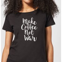 Make Coffee Not War Women's T-Shirt - Black - XXL - Black from The Coffee Collection