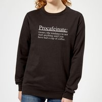 Procafeinate Women's Sweatshirt - Black - S - Black from The Coffee Collection