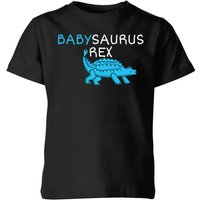 Babysaurus Rex Kids' T-Shirt - Black - 9-10 Years - Black from The Dinosaur Collection