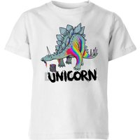 DinoUnicorn Kids' T-Shirt - White - 7-8 Years - White from The Dinosaur Collection