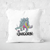 DinoUnicorn Square Cushion - 60x60cm - Soft Touch from The Dinosaur Collection