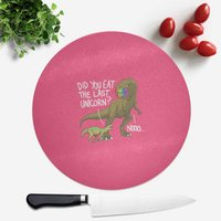 Dinosaur Unicorn Round Chopping Board from The Dinosaur Collection