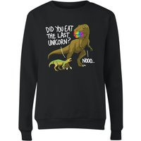 Dinosaur Unicorn Women's Sweatshirt - Black - M - Black from The Dinosaur Collection
