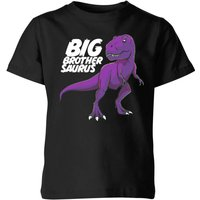 Im A Big Brothersaurus Kids' T-Shirt - Black - 11-12 Years - Black from The Dinosaur Collection