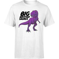 Im A Big Brothersaurus Men's T-Shirt - White - S - White from The Dinosaur Collection