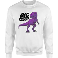 Im A Big Brothersaurus Sweatshirt - White - L - White from The Dinosaur Collection