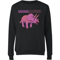 Mama Saurus Women's Sweatshirt - Black - S - Black from The Dinosaur Collection