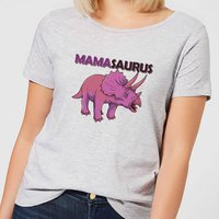Mama Saurus Women's T-Shirt - Grey - L - Grey from The Dinosaur Collection