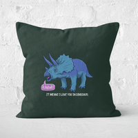 RAWR! It Means I Love You Square Cushion - 60x60cm - Soft Touch from The Dinosaur Collection