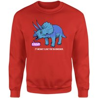 RAWR! It Means I Love You Sweatshirt - Red - M - Red from The Dinosaur Collection
