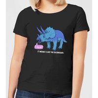 RAWR! It Means I Love You Women's T-Shirt - Black - XL - Black from The Dinosaur Collection