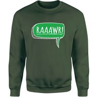 Raaawr Sweatshirt - Forest Green - M - Forest Green from The Dinosaur Collection