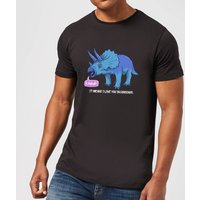 Rawr It Means I Love You In Dinosaur Men's T-Shirt - Black - L - Black from The Dinosaur Collection