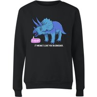 Rawr It Means I Love You In Dinosaur Women's Sweatshirt - Black - L - Black from The Dinosaur Collection