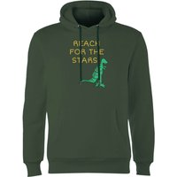 Reach For The Stars Hoodie - Forest Green - M - Forest Green from The Dinosaur Collection