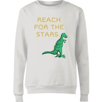 Reach For The Stars Women's Sweatshirt - White - M - White from The Dinosaur Collection