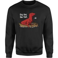 Row Row Row Your Boat Sweatshirt - Black - XXL - Black from The Dinosaur Collection